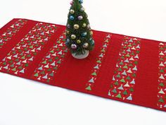 Christmas Table Runner Quilted Christmas by CentralFabrications