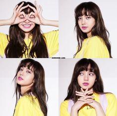 Jennie Lisa, Blackpink Lisa, Kpop Girl Groups, Korean Girl Groups, Lisa Blackpink Wallpaper, Black Pink Kpop, Blackpink Members, Wispy Bangs, Perfect Beard