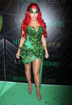 Kim Kardashian Dresses Up In Poison Ivy Costume For Halloween 2011