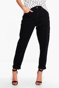 #boohoo High Rise Boyfriend Jeans - black DZZ69214 #Hatty High Rise Boyfriend Jeans - black