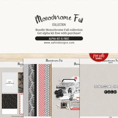 Monochrome Fall Collection | Sahin Designs | Digital Scrapbook