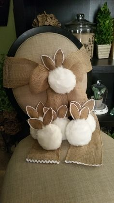 N0 Sew Bunny Tail chair sashes