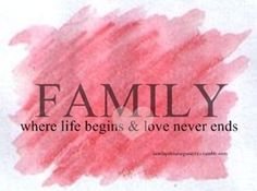 quotes about family | Family Where life Begins & Love Never Ends ~ Family Quote