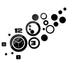 2015 nova promoção venda quente espelho relógio de parede de quartzo relógio moderno 3d decalque projeto melhor decoração para casa Diy relógios frete grátis alishoppbrasil