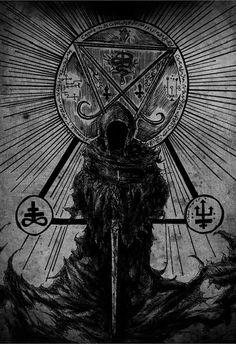 occult symbols in art Occult Symbols, Occult Art, Dark Fantasy Art, Arte Horror, Horror Art, Black Art, Black Metal, Heavy Metal, Black White