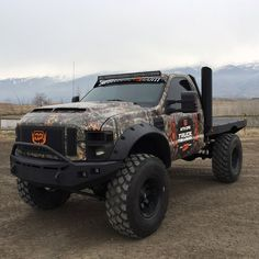 MTN OPS BUCK TRUCK. Not a fan of Ford or Powerstroke but this thing is a beast
