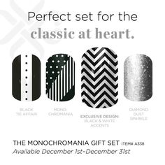 This is the perfect gift set for anyone on your list who is classically chic but wants to add a little fun! - LOVE the b/w choices in Jamberry Nails! Jamberry Gift, Jamberry Nail Wraps, Jamberry Consultant, Jamberry Style, Independent Consultant, Jamberry Christmas, Holiday Nails, Dot Nail Art, Nail Polish Art