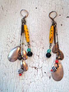 Eco Friendly Earrings - Vintage Fishing Lures