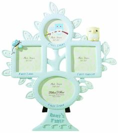 "Lillian Rose 1st Year Picture Frame, Blue Owl, 10.5"" Lillian Rose"