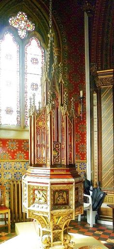 St Giles' Church, Cheadle, by A. W. N. Pugin (Interior)