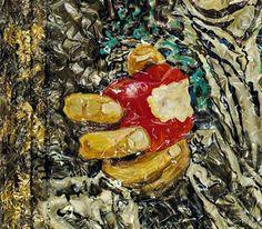 "Simon Raab ""Newton's Apple"" (detail) 2010 www.parleau.com #simonraab #parleau #apple #art #artwork Paper Art, Sculpture, Wall, Artwork, Painting, Work Of Art, Painting Art, Sculpting, Paintings"