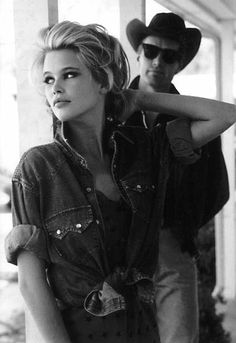 Inspirational board: Claudia Schiffer for Guess 1989