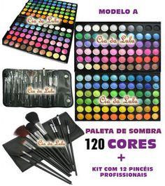 PROMOÇÃO :Paleta de Sombra 120 + Kit com 12 pincéis Profissionais.    http://loja.ciadalulu.com.br/product/153653/paleta-de-sombra-120-kit-com-12-pinceis-profissionais