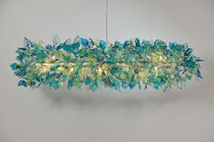 Hanging Decorations Ceiling light Fixture sea color by yehudalight