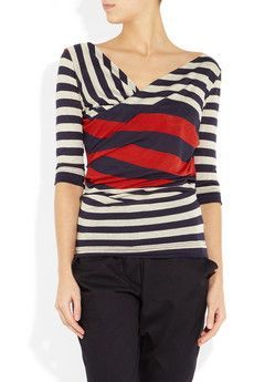 Vivienne Westwood Anglomania - Priestess striped top