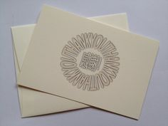 Thank You card by AtouchofEast on Etsy