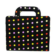 Checkout this amazing product Stylish Black dot Portable PU Leather Bag Case Cover Hand Bag Case Protector for iPad 2 iPad 3,$16.99