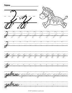 free printable cursive z worksheet cursive y cursive handwriting practice lowercase cursive letters