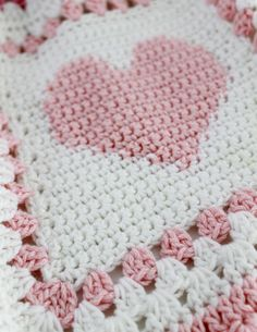 Baby Alphabet Blocks Afghan Crochet Pattern PDF by Maggiescrochet Inspiration :: Baby blanket in Click Visit link for Baby Afghan --Found the patter pink and white heart Crochet Blocks, Crochet Borders, Crochet Squares, Crochet Afghans, Crochet Blanket Patterns, Baby Blanket Crochet, Easy Crochet, Crochet Stitches, Crochet Granny
