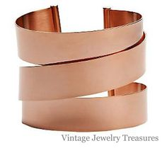 QVC SOLD OUT Bronzo Italia Average Size Polished Wrap Design Cuff Bracelet New $89