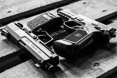 HK USP 45 Tactical + FNH FNX 45 Tactical