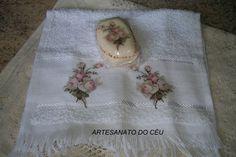 Toalhinha + Sabonete Rosinhas Vintage - R$ 15,00 Cod. PMI 080