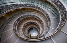 Stairs Inside Vatican Museum Photo