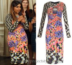 "Mindy's digital floral print dress from ""Fertility Bites""! /// Peter Pilotto Kia Printed Jersey Dress - $472 (was $1,179)"