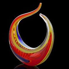 """LINO TAGLIAPIETRA Glass sculpture """"Fenice,"""" Murano, Italy, 2005. Blown and battuto glass, Signed and dated"""