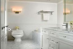 white sybway bathroom tiles - Google Search
