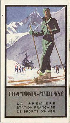 vintage ski poster - Chamonix-Mont Blanc - 1931#hautesavoie