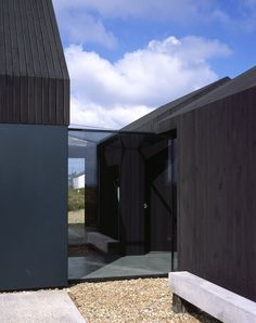 Rodic Davidson Architects replace an old fisherman's cottage in the unique landscape of Dungeness beach, Kent, England, with an imposing two-story structure embellished with dark stained lark walls. Black Building, Building A House, Shed Design, House Design, Contemporary Architecture, Architecture Design, Dungeness Beach, Fishermans Cottage, Architects Journal