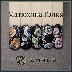 Маникюр Дизайн Идеи One Stroke Nails, Flower Nails, Nail Flowers, One Stroke Painting, Mini Paintings, Minimal Chic, Nail Trends, Nail Tips, Painting Techniques