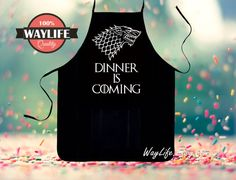 Game of Thrones Aprons Dinner is Coming Mens Kitchen by WayLife