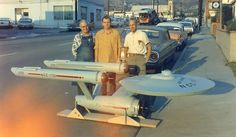 Post with 1070 votes and 69525 views. Tagged with star trek, oldschoolcool, maytheforcebewithyou, itsbiggerontheinside; The first photo of the USS enterprise model and the men who built it, Star Trek Enterprise, Enterprise Model, Uss Enterprise Ncc 1701, Star Trek Original, Star Wars, Star Trek Tos, Rare Historical Photos, Rare Photos, Bizarre Photos
