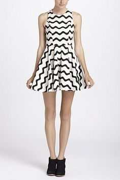 okay normally i would just say no about certain aspects of this trend... But I LOVE this!!!! totally sport it XXO    Waves Skater Dress #anthropologie