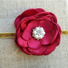 I am in love with this big, bold cranberry and gold headband!! Save 25% with code : HALLOWEEN2016
