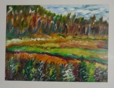 Landschap in oliepastel