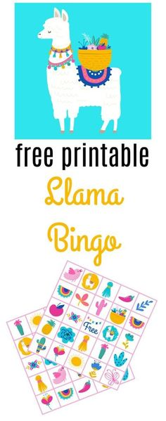 Free Printable Llama Bingo Game Perfect For A Theme Birthday Party Have