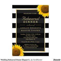 Wedding Rehearsal Dinner Elegant Sunflowers Decor