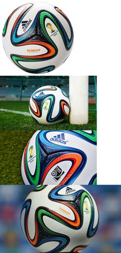 Balls 20863  Adidas Brazuca Soccer Match Ball Fifa World Cup 2014 Top  Glider Replica Size · Copa Do Mundo ... ad10f14fb4e88