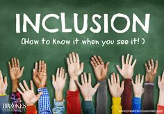 """Inclusion: How to Know It When You See It. Excellent blog post for teachers in inclusive schools--is your school """"walking the talk""""? 