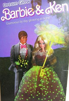 Dream Glow Barbie and Ken. I loved playing with these two in their matching outfits.