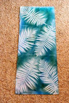 Fern sun print using Dye-na-flo;  Bloombakecreate.com