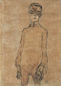 Egon Schiele · Autoritratto · 1910 · Thyssen-Bornemisza Museum · Madrid . Correlati