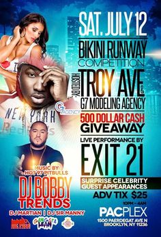 Bikini Runway Competition @ Pacplex Saturday July 12, 2014 « Bomb Parties – Club Events and Parties – NYC Nightlife Promotions