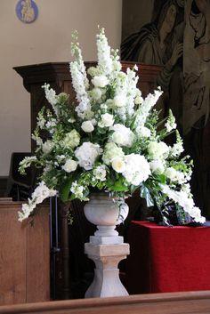 Flower Design Events: Classically Elegant White & Green St Michael's & The Inn at Whitewell Wedding Day of Helen & Richard