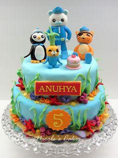 Octonauts birthday cake. Featuring Captain Barnacles, Kwazii and Peso.