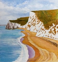 Bats Head, Dorset by Jenny Harris - Paint a seascape or harbour scene to win copies of David Bellamy books from Search Press Painting Competition, Seascape Paintings, Waves, Scene, Gallery, Artist, Books, Outdoor, Search