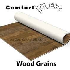 Achieve a realistic wood look for your trade show booth with Comfort Flex rollable vinyl trade show flooring. Trade Show Flooring, Craft Show Displays, Display Ideas, Mobile Boutique, Show Booth, Wood Patterns, Vinyl Crafts, Craft Business, Booth Design